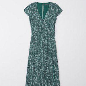 Abercrombie Back Detail Floral Midi Dress